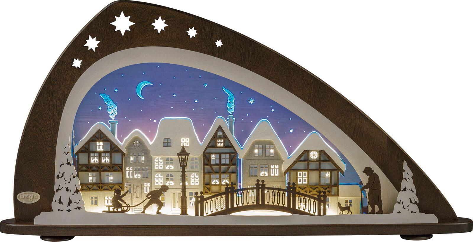 Weigla LED Schwibbogen Winter in der Altstadt, 66 cm_Bild1