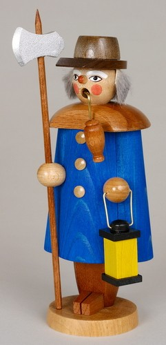 Räuchermann Nachtwächter, blau, 19 cm, Jan Stephani Seiffen/ Erzgebirge