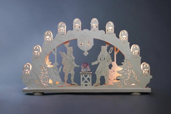 """Schwibbogen Bergmann mit Amethyst, 66 x 40 x 6 cm von Weigla - Günter Gläser Deutschneudorf/ Erzgebirge Der Schwibbogen""""Bergmann"""" mit Amethyst ist …"""