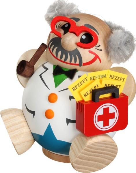 lustige Räucherfigur mit Arztkoffer