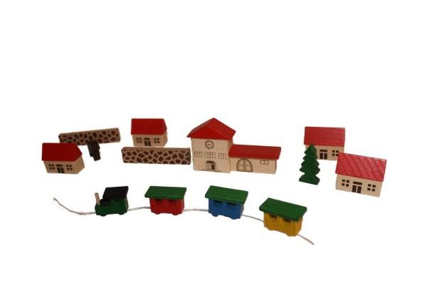 Achtung und Vorsicht an der Bahnsteigkante! Der bunte Holzzug kommt an! Das kleine Dorf wartet schon sehnsüchtig auf kleine Entdecker. Mit diesem Dorf können …