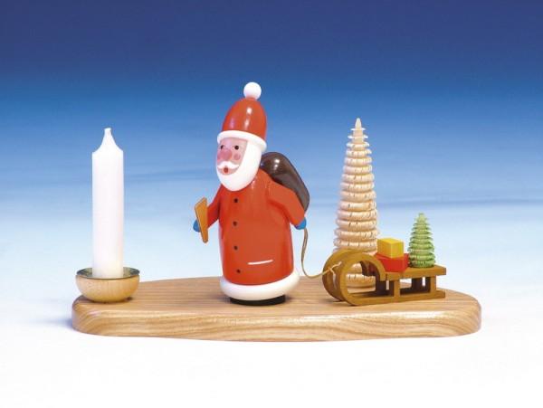 Weihnachtskerzenhalter Weihnachtsmann, 12 cm, Knuth Neuber Seiffen/ Erzgebirge