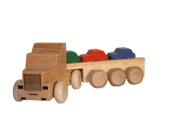 Holzauto US Truck Autotransporter, farbig von Ebert GmbH - Bild 1