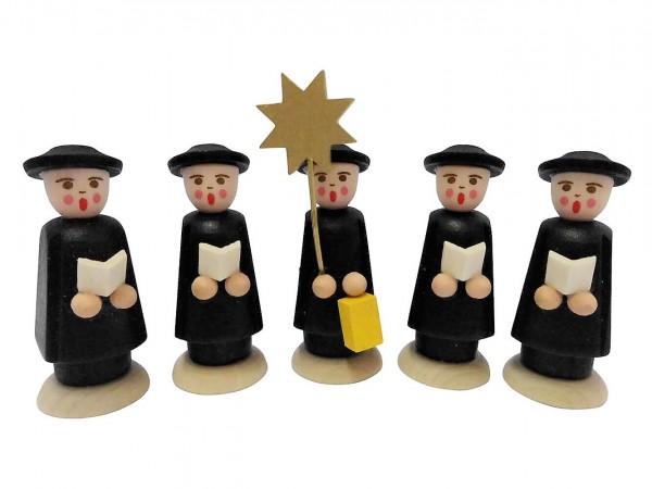 Nestler-Seiffen, Weihnachtsfiguren Kurrende, schwarz, 5 Stück
