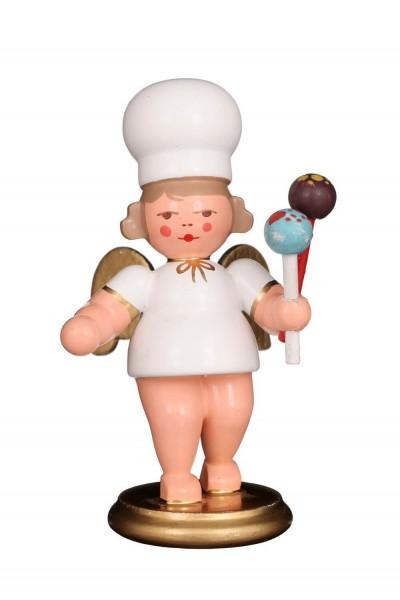 Weihnachtsengel - Bäckerengel mit Cake-Pops, 8 cm von Christian Ulbricht GmbH & Co KG Seiffen/ Erzgebirge