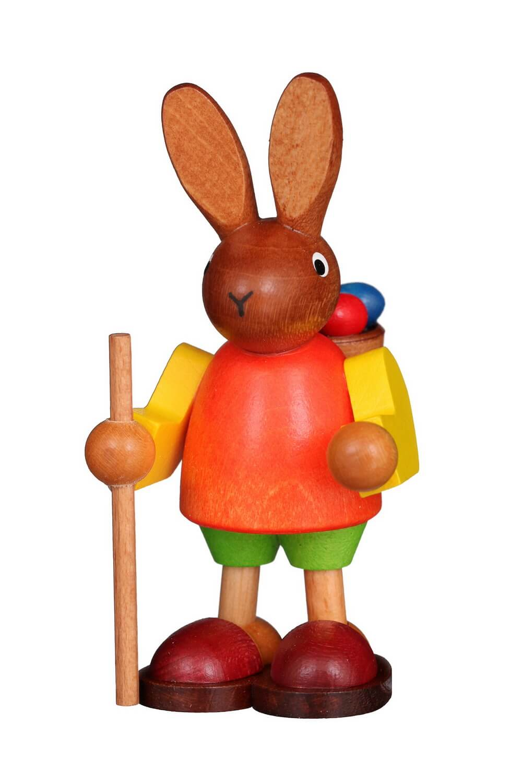 Osterhase mit Buckelkorb, 9 cm von Christian Ulbricht GmbH & Co KG Seiffen/ Erzgebirge