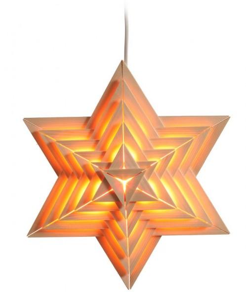 Eckert, Beleuchteter Weihnachtsstern aus Holz
