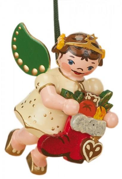 Baumbehang & Christbaumschmuck Weihnachtsengel Nikolausstiefel, 6 cm, Hubrig Volkskunst GmbH Zschorlau/ Erzgebirge