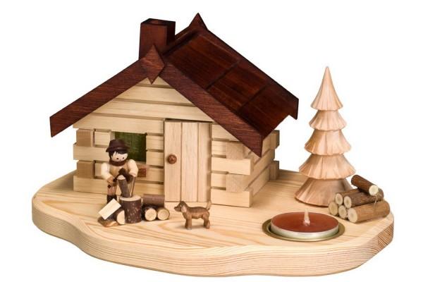 Räucherhaus Holzhacker mit Teelicht von Romy Thiel
