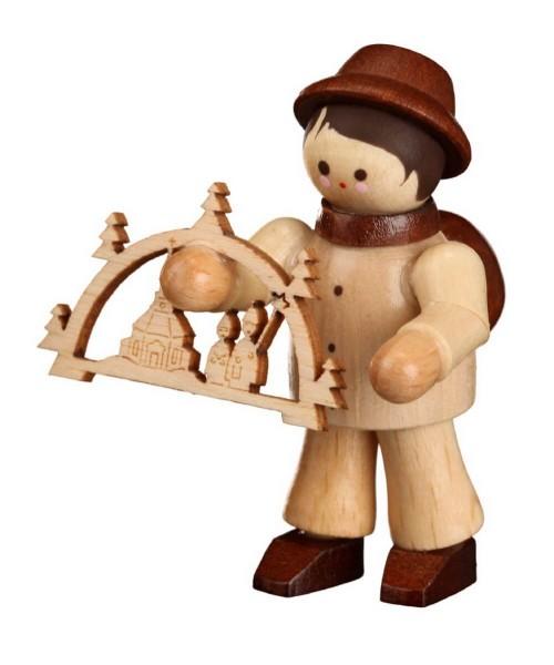 Der Schwibbogenhändler, mini in natur von Romy Thiel Deutschneudorf/ Erzgebirge, ist ein wahrer Künstler. In akribischer Detailarbeit drechselt er …