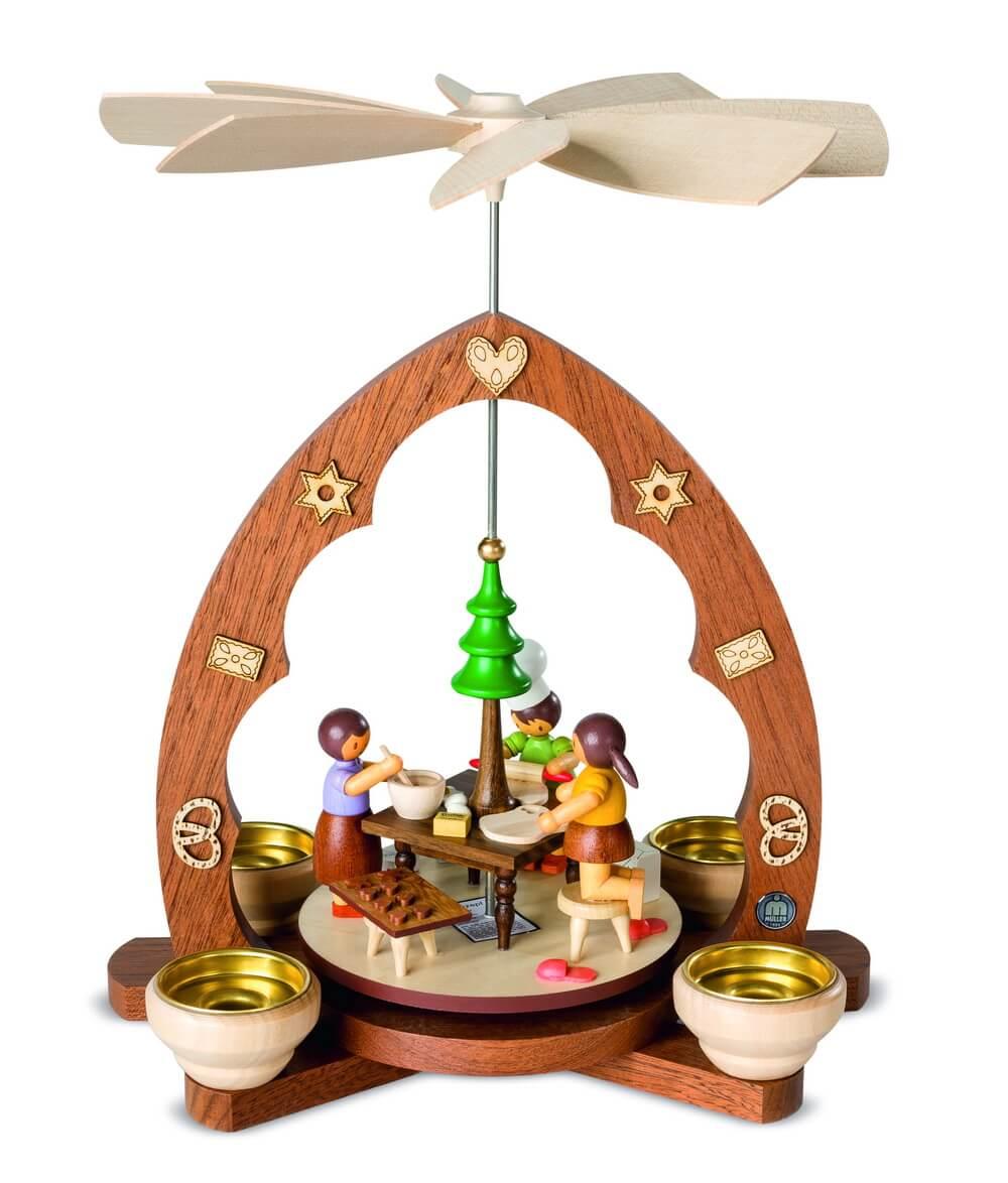 Weihnachtspyramide von Müller Kleinkunst Weihnachtsbäckerei, 30 cm, Spitzbogen
