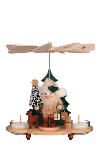 Weihnachtspyramide Weihnachtsmann, 20 cm von Christian Ulbricht GmbH & Co KG Seiffen/ Erzgebirge