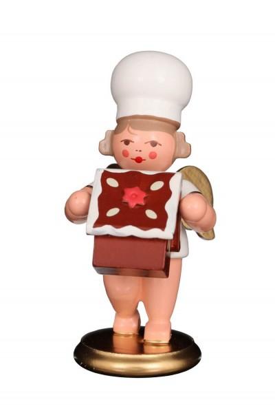 Weihnachtsengel - Bäckerengel mit Pfefferkuchen, 8 cm, Christian Ulbricht GmbH & Co KG Seiffen/ Erzgebirge
