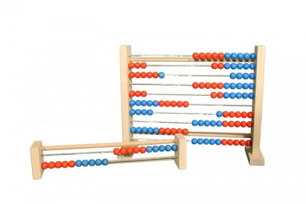 Abacus, Rechenrahmen mit 100 Kugeln aus Holz von Ebert GmbH