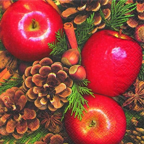 Weihnachtsservietten Apples with Nuts von Home Fashion®