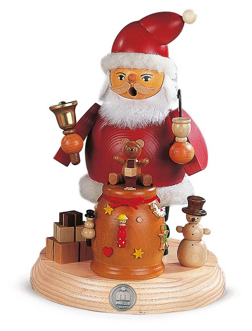 Räuchermann Weihnachtsmann aus Holz von Müller Kleinkunst aus Seiffen