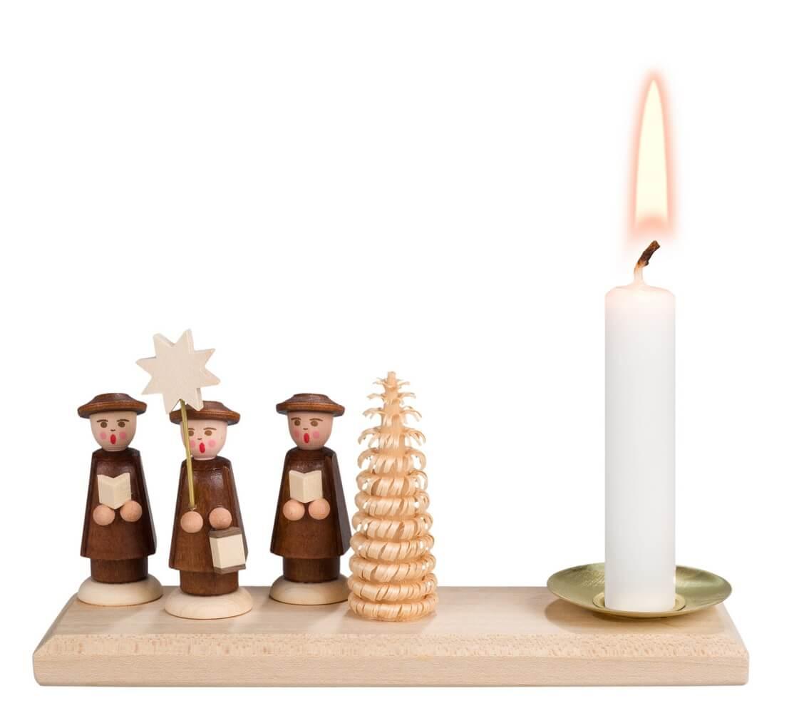 Weihnachtskerzenhalter von Nestler-Seiffen mit Kurrende _Bild1