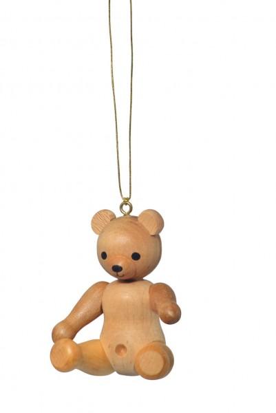 KWO Christbaumschmuck Teddy, sitzend zum Hängen für den Weihnachtsbaum