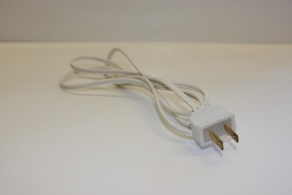 Schalterleitung, weiß, 1,5 m mit US Stecker