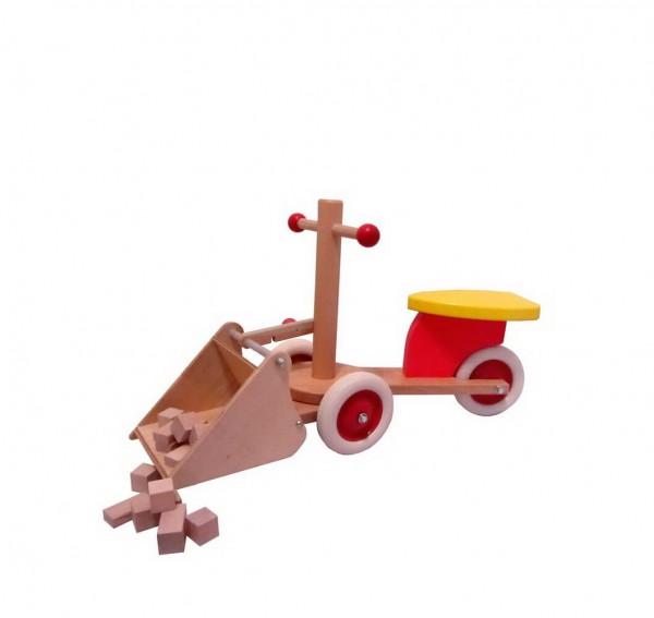 Rutscher Dumpo von Holz-Wenzel mit Schaufel hergestellt aus einheimischen Buchenholz