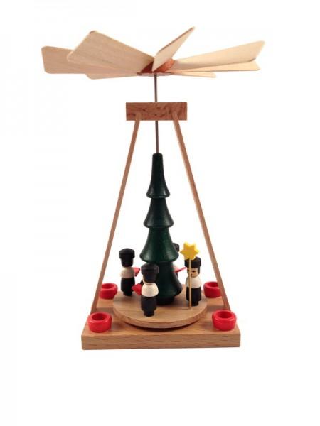 Weihnachtspyramide & Minipyramide Kurrende, 13 cm, Spielwarenmacher Günther Seiffen/ Erzgebirge