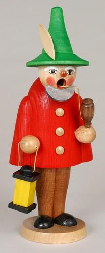 Räuchermann Wichtel, rot, 19 cm, Jan Stephani Seiffen/ Erzgebirge