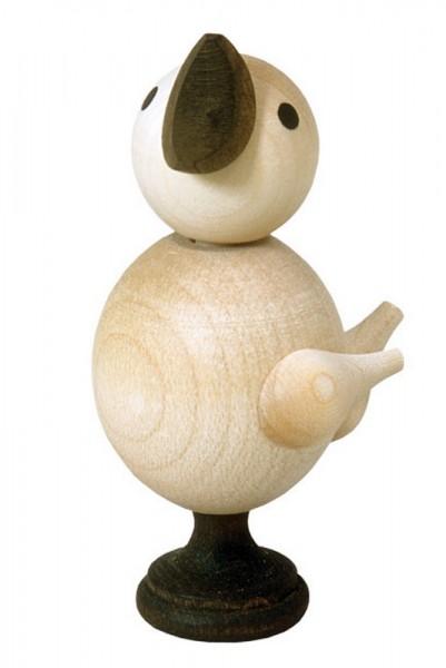 Dieses originelle Spielzeug, ist ein traditionelles Produkt aus dem Erzgebirge. Dreht man an dem Sockel, so bewegt sich der Kopf des Kükens und ein Zwitschern …