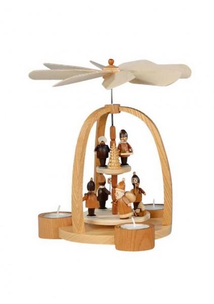 Knuth Neuber, Teelichtweihnachtspyramide Weihnachtsmann mit Striezelkinder