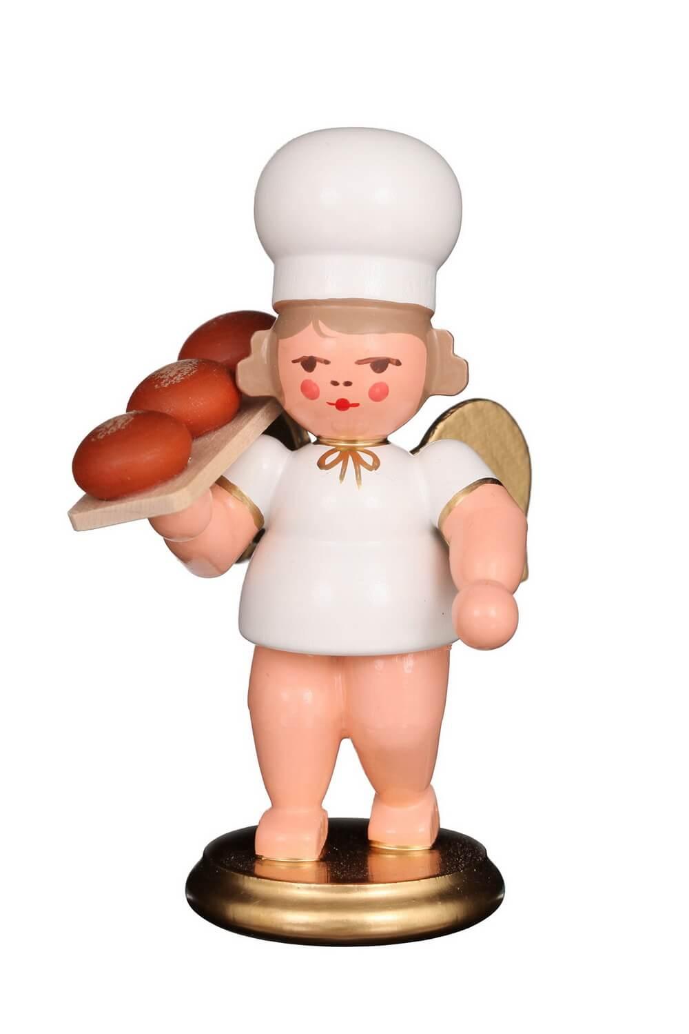 Weihnachtsengel - Bäckerengel mit Brotbrett, 8 cm, Christian Ulbricht GmbH & Co KG Seiffen/ Erzgebirge