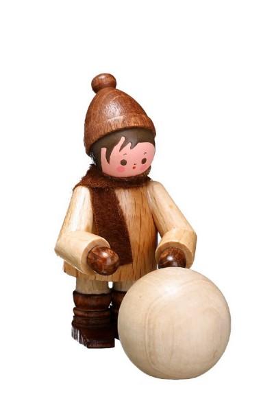 Schneemann bauen und Schneeballschlacht, Winter ist so schön!! Das weiß auch dieser niedliche Kugelroller in natur von Romy Thiel Deutschneudorf/ Erzgebirge. …