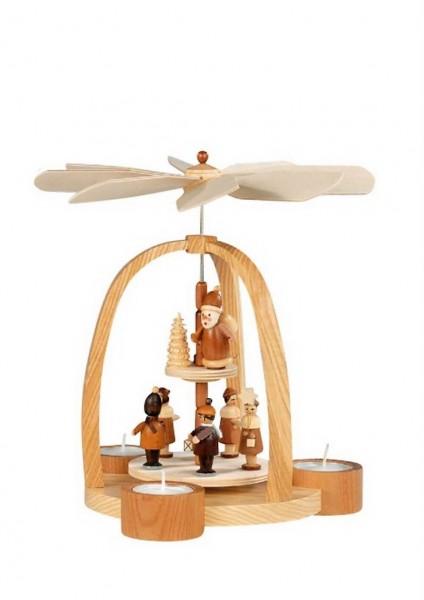 Knuth Neuber, Teelichtweihnachtspyramide Kurrende mit Laternenkinder