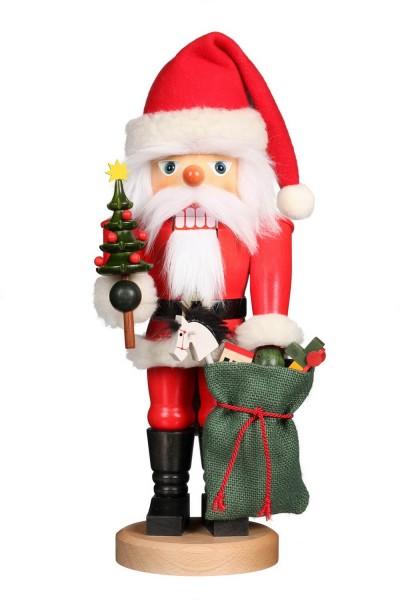Nussknacker Weihnachtsmann mit Sack, 41 cm von Christian Ulbricht Seiffen/ Erzgebirge