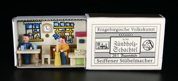 Zündholzschachtel Bauernstube von Gunter Flath aus Seiffen / Erzgebirge Detailgetreue Nachbildung einer Bauernstube aus früheren Zeiten. Diese Bauernstube …