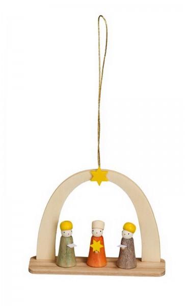 Christbaumschmuck & Baumbehang Sternsänger, 6 cm von Theo Lorenz aus Seiffen