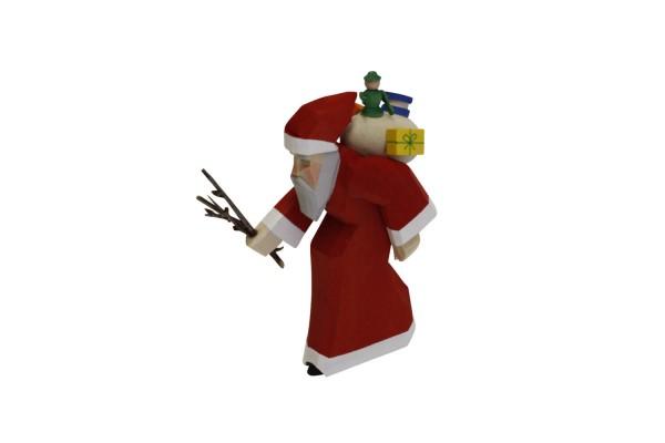 Holzschnitzerei von Bettina Franke Weihnachtsmann mit Rute, 11 cm_Bild_1