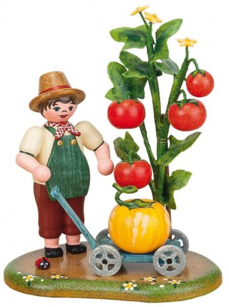 Dekofigur mit Tomatenstrauch aus Holz von Hubrig