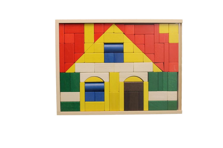 Bereits für kleine Kinderhände geeignet, ist dieser Baukasten Haus. Ihre Kinder können die Bausteine aus diesem Set als Legespiel oder zum Erbauen von …