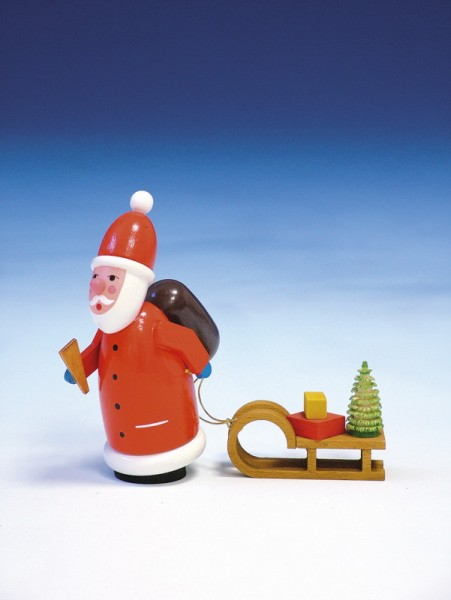 Weihnachtsmann, bunt, 11 cm, Knuth Neuber Seiffen/ Erzgebirge