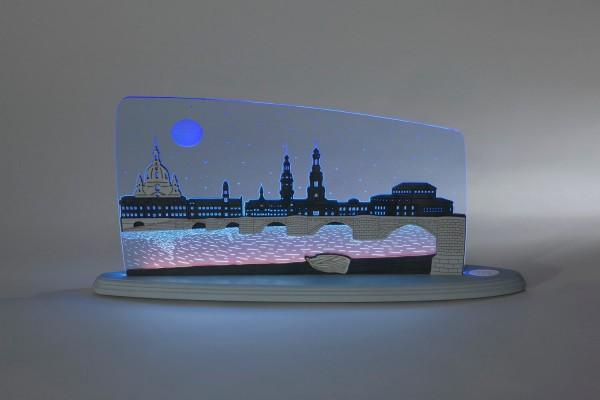 LED Motivleuchte Dresden bei Nacht von Weigla