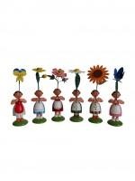 Vorschau: Blumenkinder von WEHA-Kunst Sommerblumenmädchen, 6 Stück_Bild2