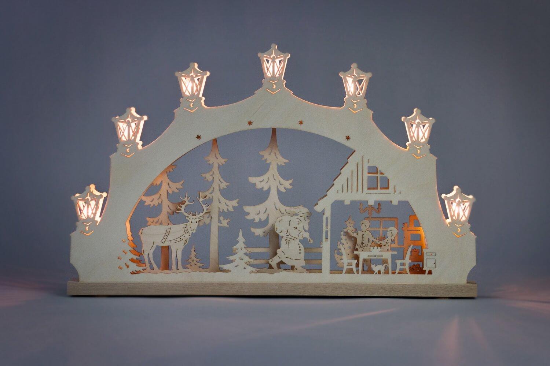 Schwibbogen Weihnachtsabend, 52 x 32 x 6 cm von Weigla - Günter Gläser Deutschneudorf/ Erzgebirge Der …