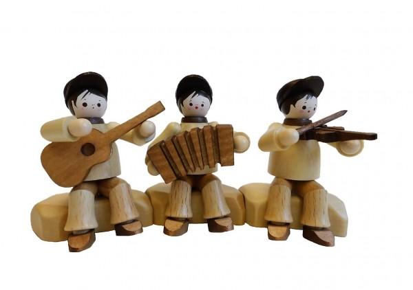 Was für eine schöne Truppe sind die 3 lustigen Musikanten, sitzend in natur von Romy Thiel Deutschneudorf/ Erzgebirge. Weit hin hört die tolle Musik …