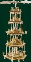 Vorschau: Weihnachtspyramide Christi Geburt, 4 - stöckig, 70 cm hoch, Richard Glässer GmbH Seiffen/ Erzgebirge