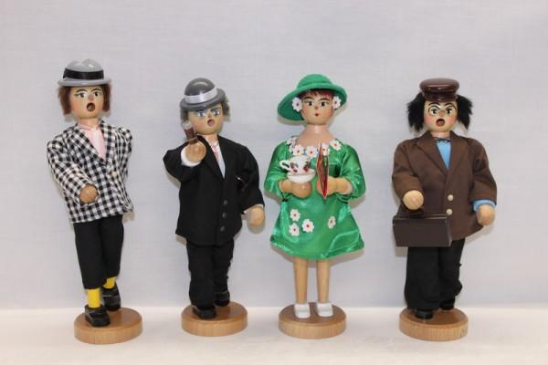 Räuchermann Olsenbande mit Yvonne, Egon (20 cm), Benny (23 cm) und Kjeld (20 cm), Yvonne (20 cm), Armin Braun Neuhausen/ Erzgebirge. Dieses Räuchermann-Trio …