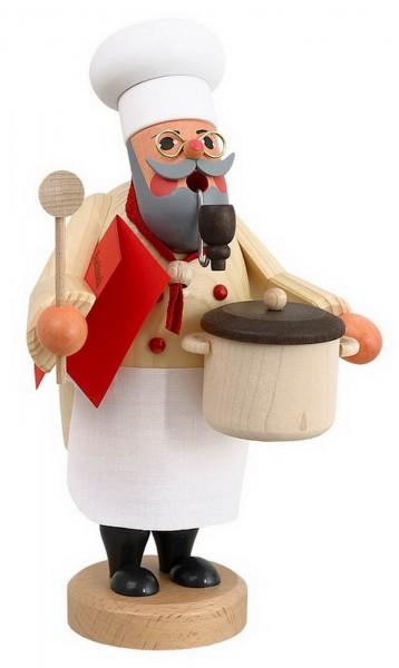 Räuchermännchen Koch von Karl Werner Sayda / Erzgebirge So stellt man sich einen richtigen Koch vor. Die Kochschürze umgebunden, den Kochlöffel in der Hand …