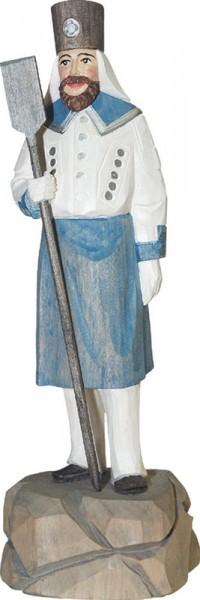 Blaufarbenwerker, farbig, geschnitzt, in verschiedenen Größen