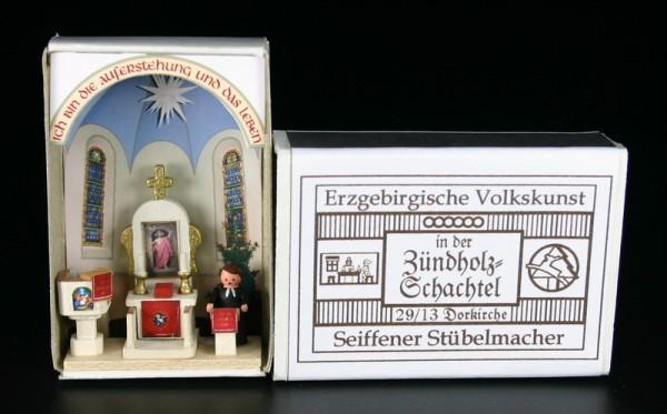 Zündholzschachtel Dorfkirche von Gunter Flath aus Seiffen / Erzgebirge Detailgetreue Nachbildung einer Dorfkircheaus früheren Zeiten. Diese Dorfkirche wurde …