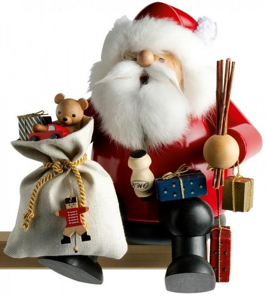 Räuchermann Kantenhocker Weihnachtsmann, 26 cm von KWO