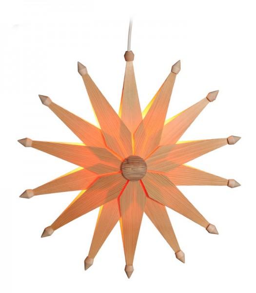 Weihnachtsstern doppelt, elektrisch beleuchtet, 38 cm von Volkskunstwerkstatt Eckert aus Seiffen/ Erzgebirge
