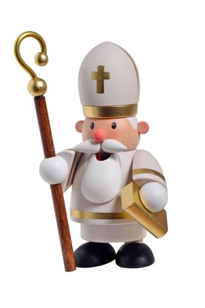 Räuchermännchen Heiliger St. Nikolaus, 12 cm von KWO Kunstgewerbe-Werkstätten Olbernhau/ Erzgebirge